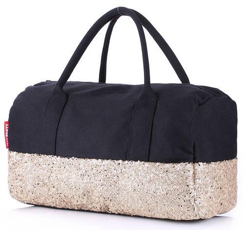 Модная женская сумка POOLPARTY ROCK'N'ROLL HANDBAG, poolparty-rocknroll-black-gold черная с золотым