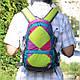 Рюкзак детский, яркой расцветки 20 л. Onepolar W1590-green разноцветный, фото 2