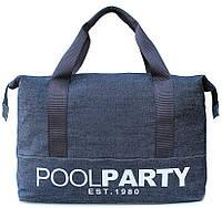 Молодежная джинсовая сумка POOLPARTY ORIGINAL Арт.pool-12-jeans синий