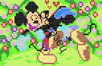 """Схема для вышивки бисером """"Микки и Минни Маус"""""""