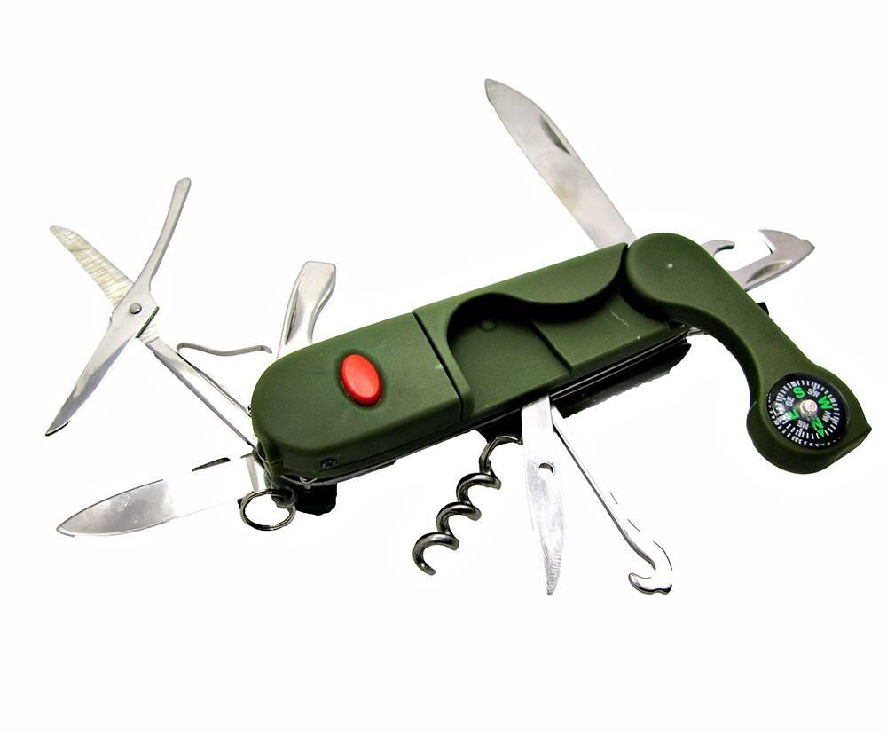 Туристический нож с набором инструментов