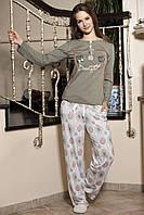 Женская пижама Shirly 5850, костюм домашний с повязкой на глаза для сна