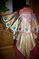 Жар-птица №3 - платье, крылья из органзы, головной убор, р.122-128