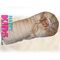 """Конверт-одеяло зимний на овчине """"Teddy"""" на выписку, в коляску, санки"""