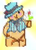 """Схема для вышивки бисером """"Мишка"""""""