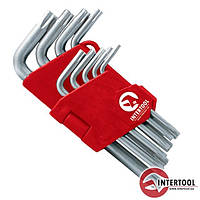 Набор Г-образных ключей TORX с отверстием 9шт., Т10-Т50, Cr-V HT-0604
