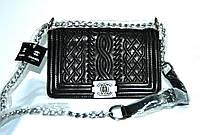 Женская сумка клатч Chanel Boy (Шанель Бой) 9003 черная
