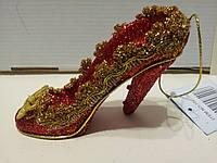 Елочное украшение-туфелька золушки