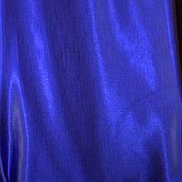 Штора атлас, цвет синий