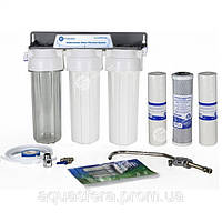 Трехступенчатая система фильтрации под кухон. мойку, механич. и угольная очистка, краник FXFCH5 с керам. клап.