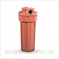 """10"""" Корпус фильтра из нилона укреплённого стекловолокном, для горячей воды, оранжевый, 8.6 bar, до 93°C"""