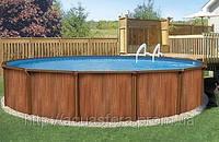 Сборно щитовой бассейн Esprit - Wood круг: 6,40Х1,32м.