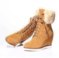 Стильные замшевые ботинки сникерсы 2 вида