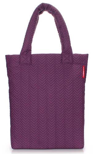 Яркая вертикальная женскя стеганая сумка Poolparty Арт.ns3-violet-fir фиолетовая