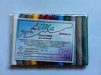 Полимерная глина Lema Glitters – набор 12 цветов, фото 1