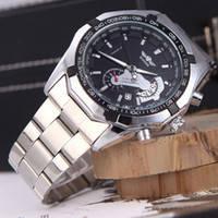 Мужские механические часы Winner Carrera Style со стальным браслетом