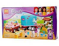 Конструктор Bela  Friends аналог Lego Эмма и трейлер для её лошадки