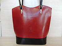 Стильная женская сумка из натуральной кожи. Италия Красный