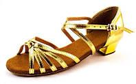 Туфли для бальных танцев детские золото