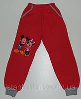 """Брюки штаны спортивные для девочек теплые  (начес) с """"Микки и Минни"""" 1, 2, 4 года. Турция!"""