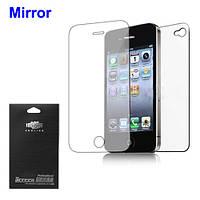 Защитная пленка ISME Mirror 2 в 1 для Apple iPhone 4 4S матовая