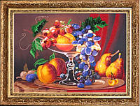 Набор для вышивания бисером Натюрморт с персиками БФ 223