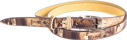 Необычный женский узкий кожаный ремень MAYBIK (МЕЙБИК) D355573
