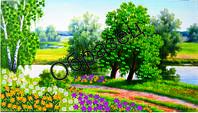 Схема для вышивки лентами  «Красота природы»