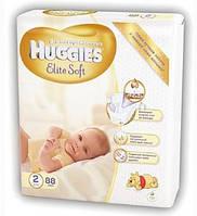 Подгузники Хаггис Huggies Элит Софт 2 (4-7кг) 88 шт.