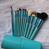 Новогодний подарок Набор кистей для макияжа тубус 12 штук