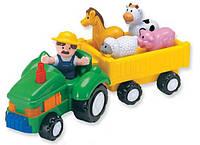 Фермерский трактор со звуковыми эффектами