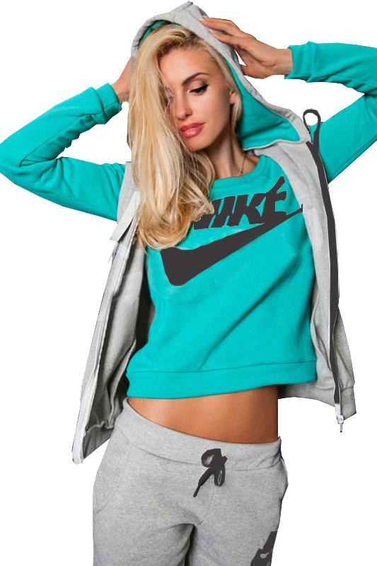 Бирюзовый спортивный костюм женский с доставкой