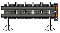 Распределительный коллектор Meibes для монтажа на полу V100 на 2 контура,PN 10