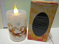 Декоративная Новогодняя свеча имитирующая огонь