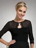 Женская блуза черного цвета с рукавом сеточка Federika Eldar, коллекция весна-лето 2014
