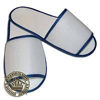 """Одноразовые тапочки """"Сауна"""" с плотным верхом (синие)"""