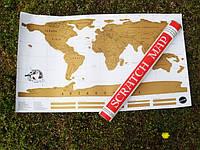 Настенная карта мира в подарочном тубусе Scratch map - (English)