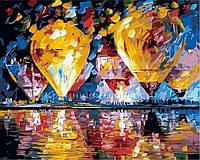 """Раскраска по номерам """"Воздушные шары"""", худ. Л. Афремов, 40х50см. (MG1012, КН1012)"""