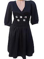 Стильные женские платья. Турция (черный 44)