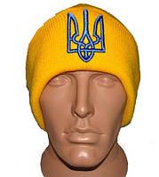 Желтая шапка с украинской символикой Герб