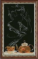 Наборы для вышивания нитками на канве Чайная фантазия-она 1КИТ 90513