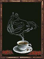 Наборы для вышивания нитками на канве Кофейная Фантазия - Рак 1КИТ 80713