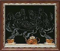 Набор для вышивания нитками на канве Чайная фантазия - охотники на привале 1 КИТ 40713