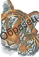 """Схема для вышивки бисером на водорастворимом флизелине """"Тигры"""""""