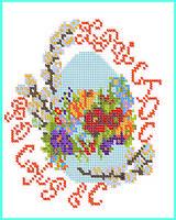 """Схема для вышивки бисером на водорастворимом флизелине """"Пасхальные картинки"""""""