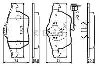 Тормозные колодки SEAT IBIZA IV и V (Bosch)