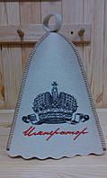Шапка для бани и сауны с вышивкой 'Император'