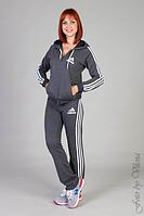 Женский спортивный костюм Adidas цвет: черный, серый.