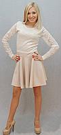 Платье с гипюром беж, фото 1