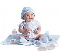 Berenguer, кукла новорожденный мальчик в небесно-голубом наряде, 39 см